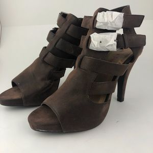 Pink & Pepper | *NEW* Brown Strappy Buckle Heels